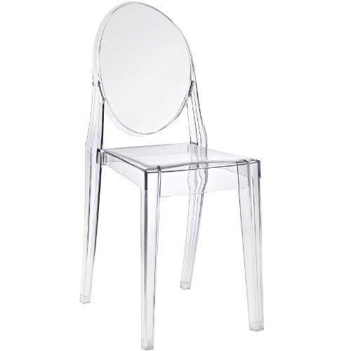 LexMod Casper Dining Side Chair Clear