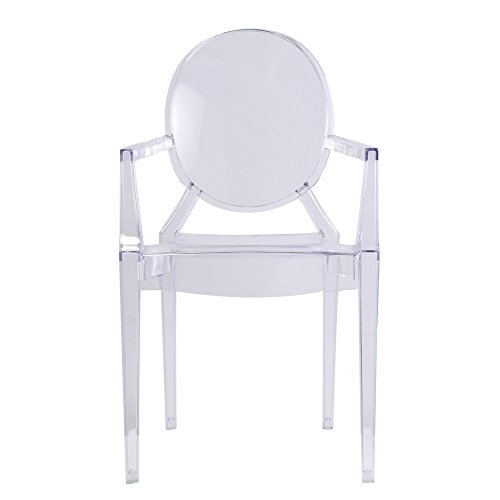 Designer Modern Louis Ghost Arm Chair - Transparent Acrylic Chair
