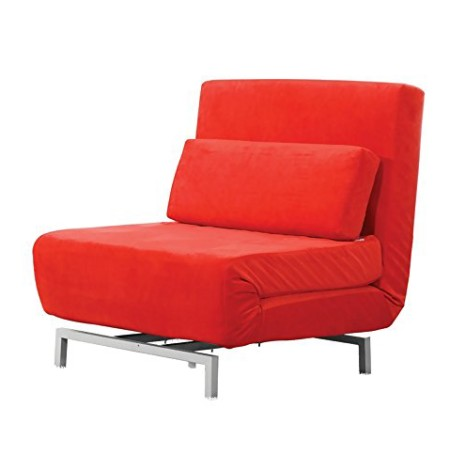 Fine Mod Imports Home Indoor Livingroom Romano Convertible Sofa Red