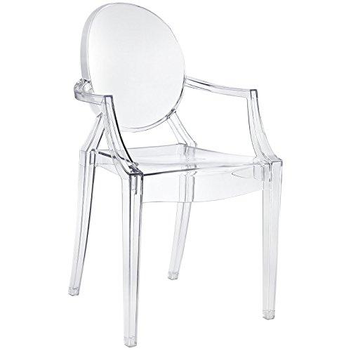 Casper Dining Armchair in Clear