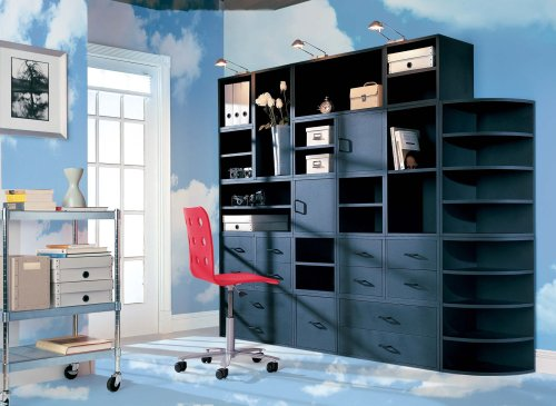 Foremost 327506 modular door cube storage system black for Foremost modular homes