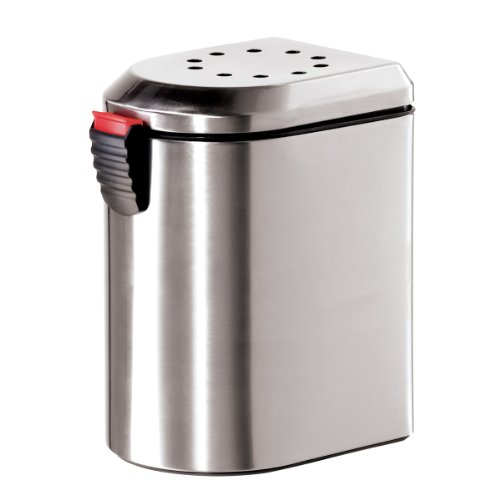 Oggi 7289 0 Deluxe Stainless Steel Countertop Compost Pail