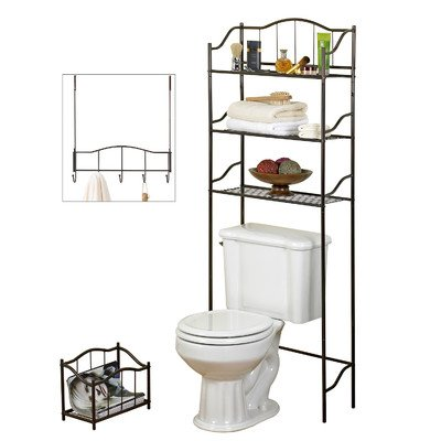 creative bath 3 piece complete bath set bronze