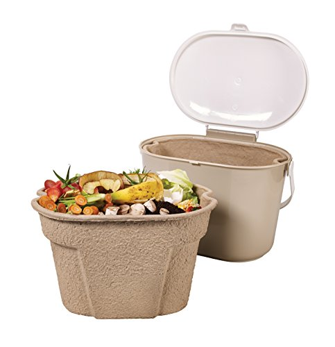 Compost Bin Buddy Kitchen Compost Collector Mini Bin Liner Oval 20 Pa