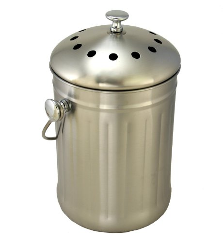 compost pail indoor kitchen bin 16 99 this stainless steel compost