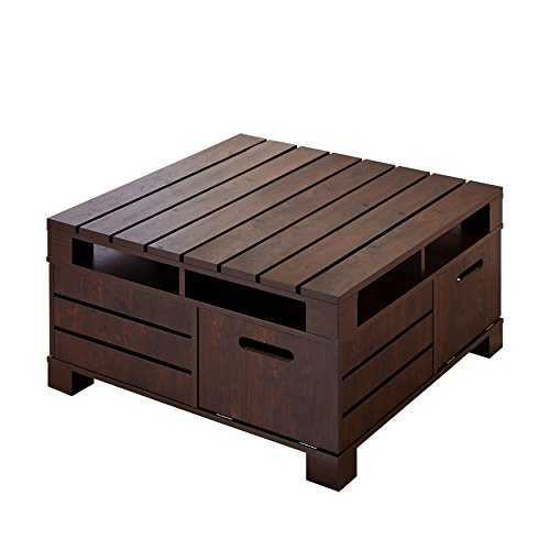 Furniture Of America Feltria Coffee Table With Storage Vintage Walnut