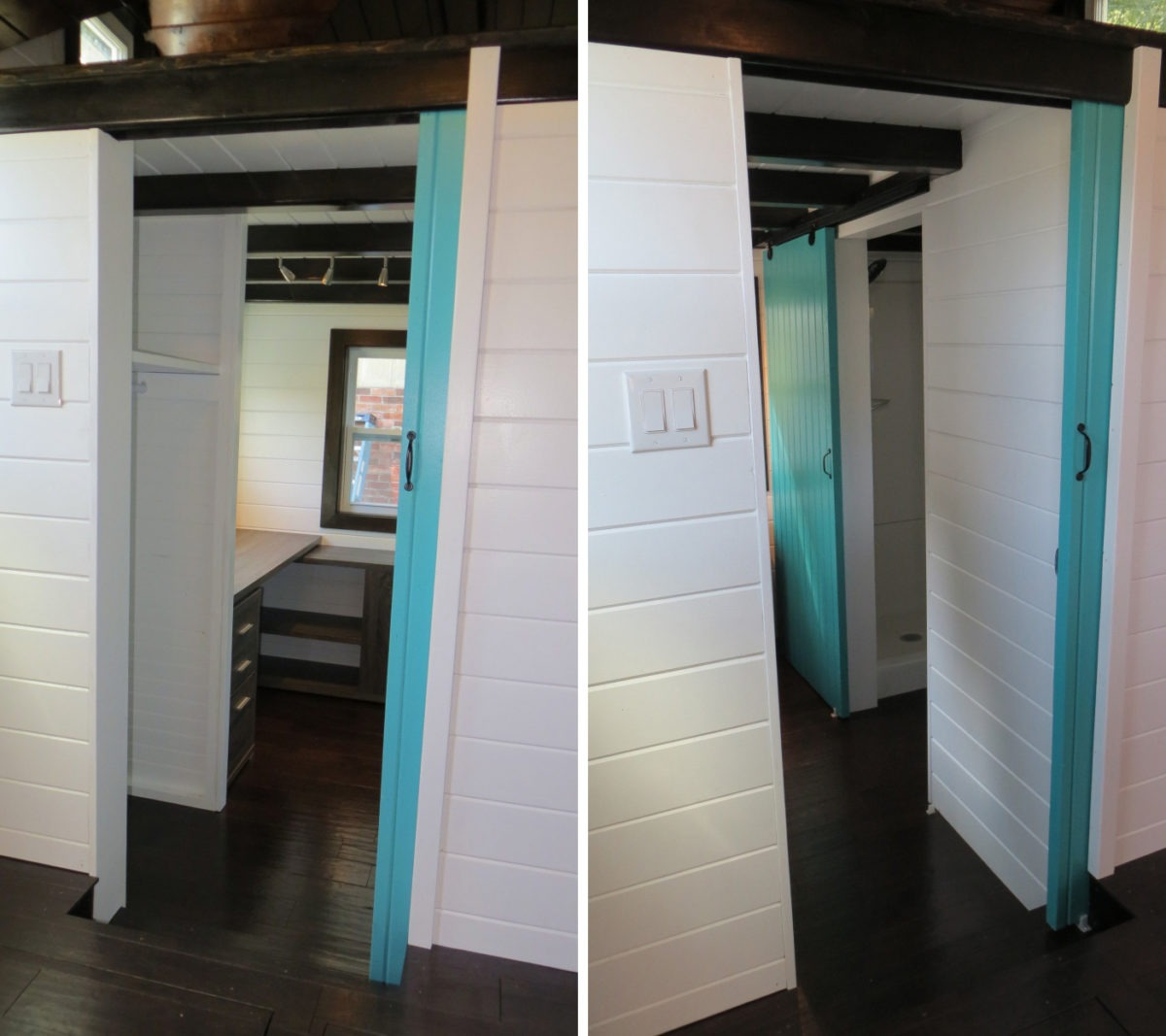 Door and Beam Ceiling - 36° North by Brevard Tiny House