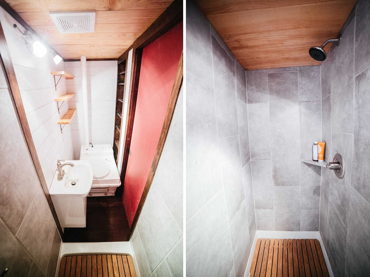 Bathroom and Shower Stall - Chimera by Wind River Tiny Homes