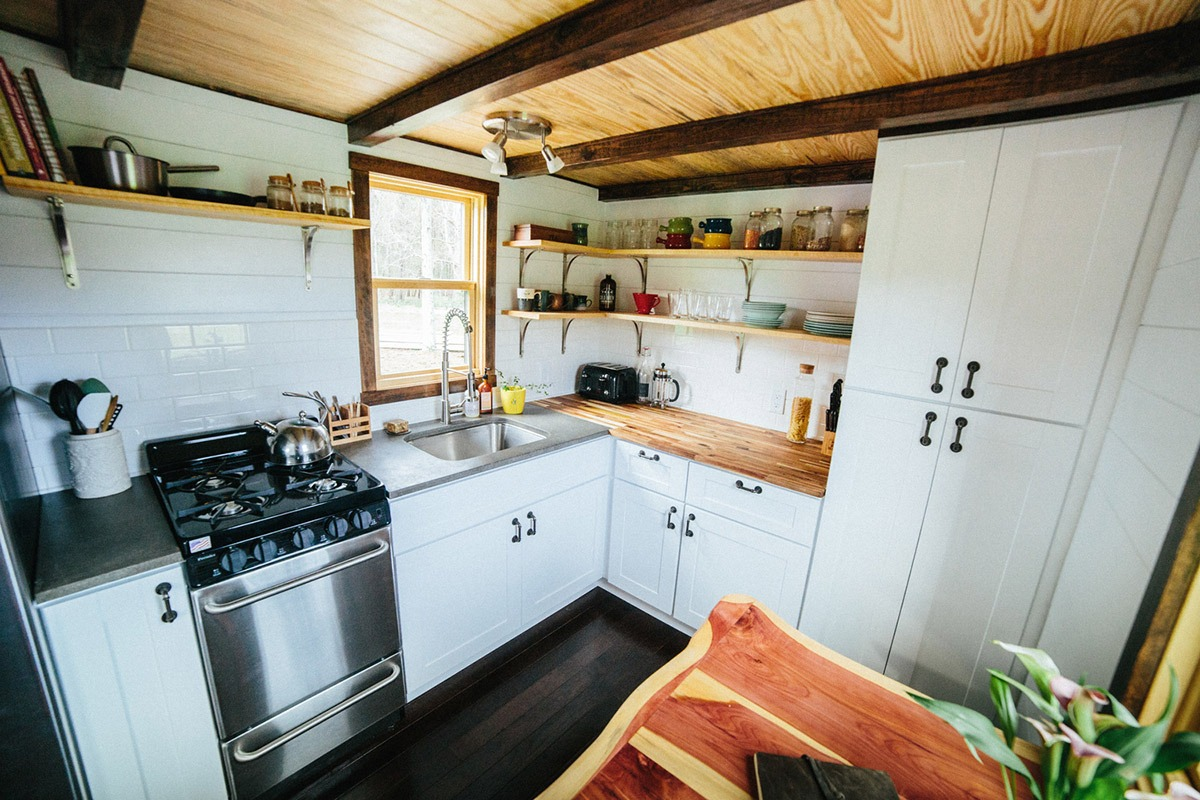 Kitchen and Dining Table - Chimera by Wind River Tiny Homes