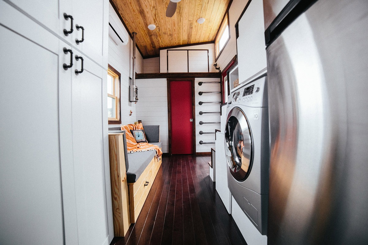 Living Room and Bedroom Loft - Chimera by Wind River Tiny Homes