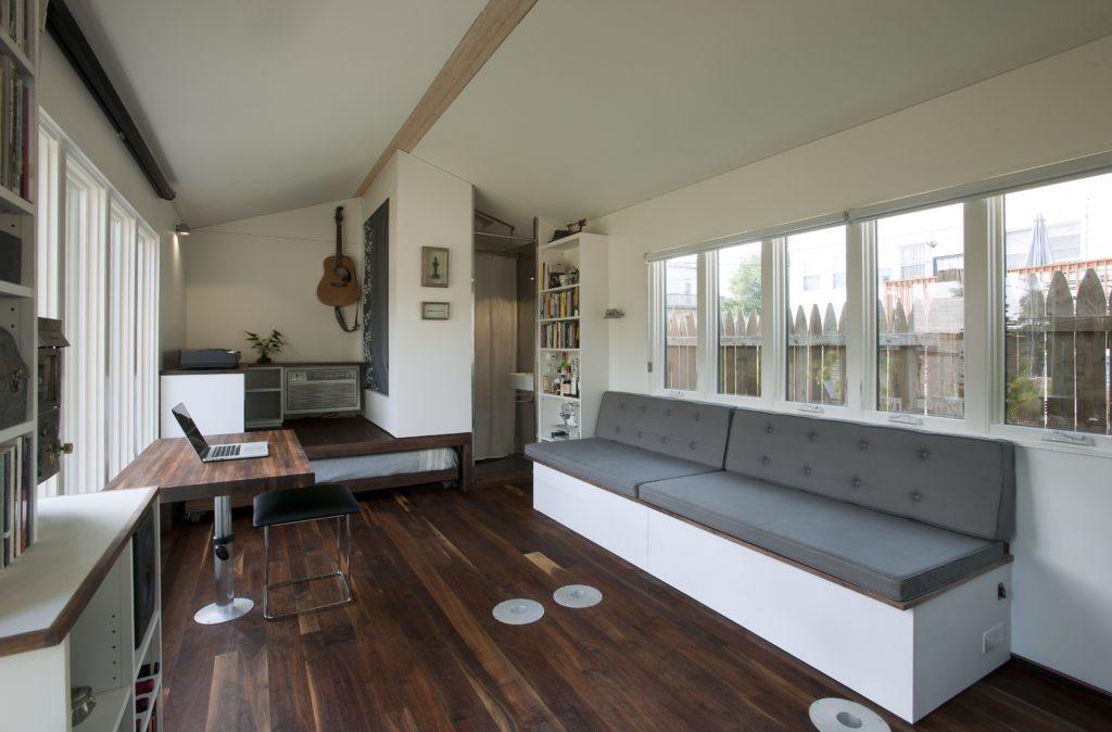 Living Room w/ Table - Minim Micro Homes