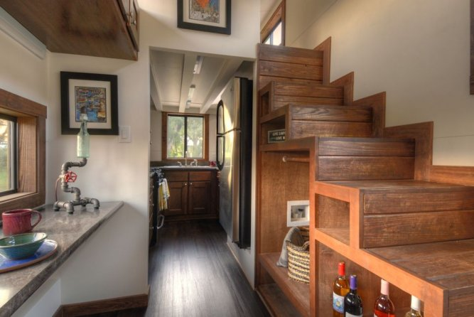 Storage Stairs - Morrison hOMe by EcoCabins