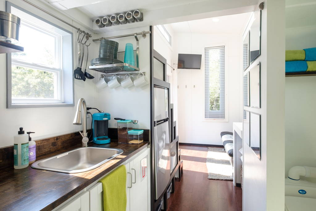 Kitchen and Storage Stairs - Nashville Tiny House