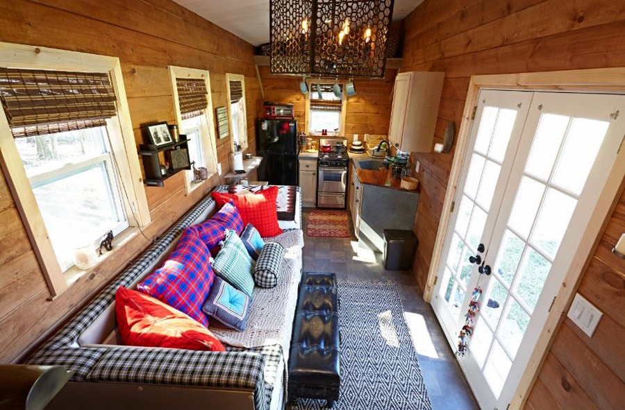 Living Room and Kitchen - Nomad's Nest by Wind River Tiny Homes