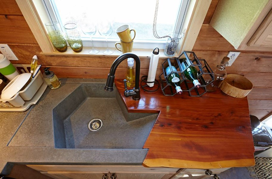 Custom Kitchen Sink - Nomad's Nest by Wind River Tiny Homes