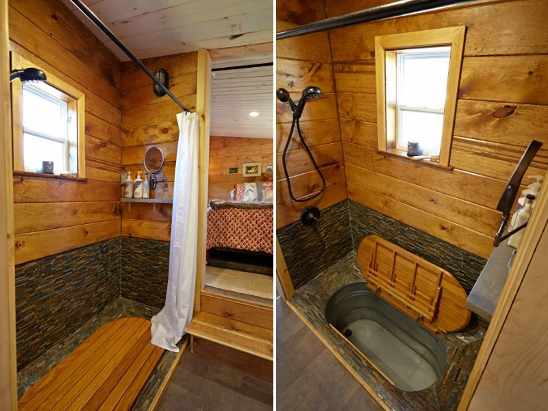 Bathroom with Tub - Nomad's Nest by Wind River Tiny Homes