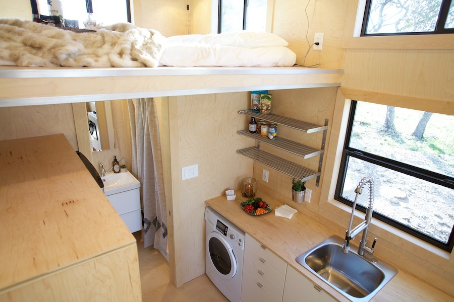 Loft and Kitchen - Nomad Tiny Home