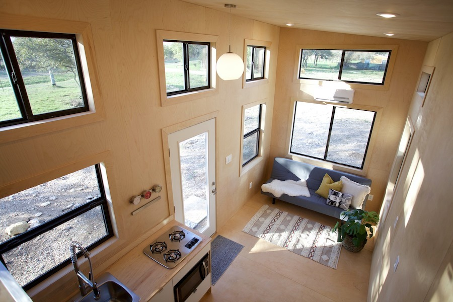 Interior Aerial View - Nomad Tiny Home
