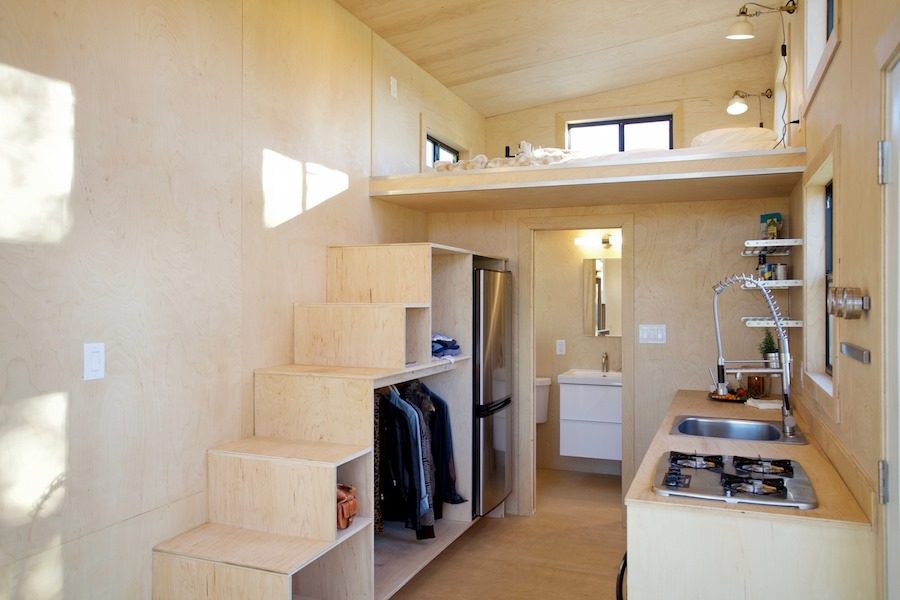 Storage Stairs - Nomad Tiny Home