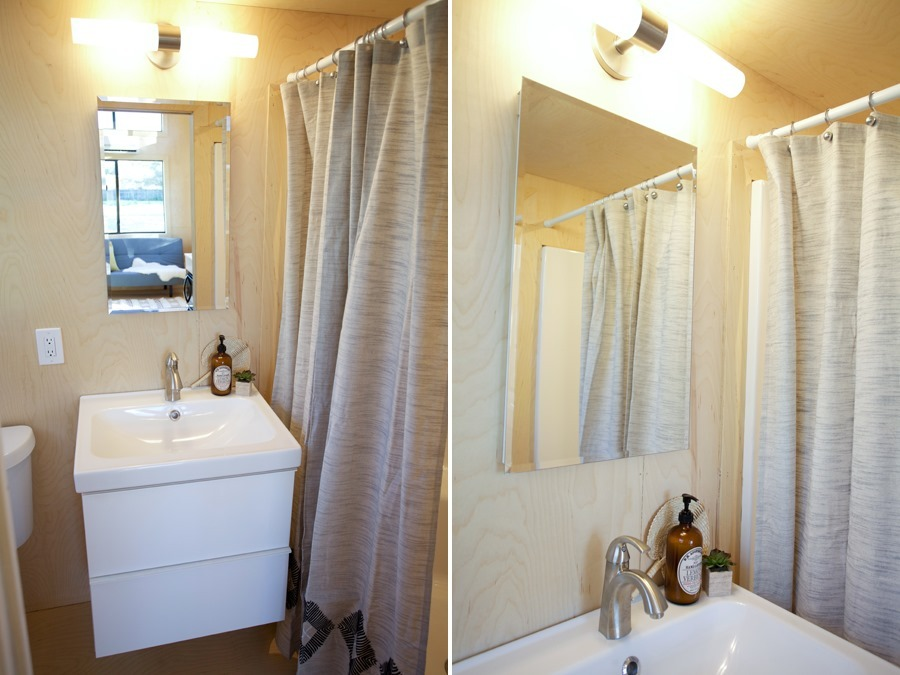 Bathroom Sink and Shower - Nomad Tiny Home