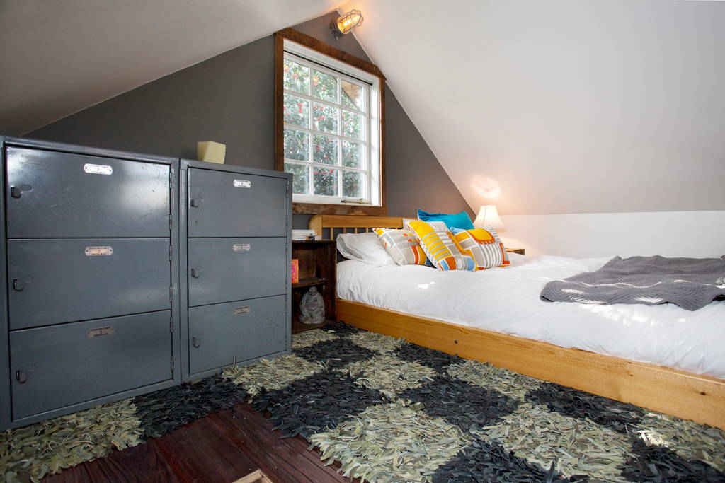 Bedroom Loft w/ Storage - Rustic Modern Tiny House
