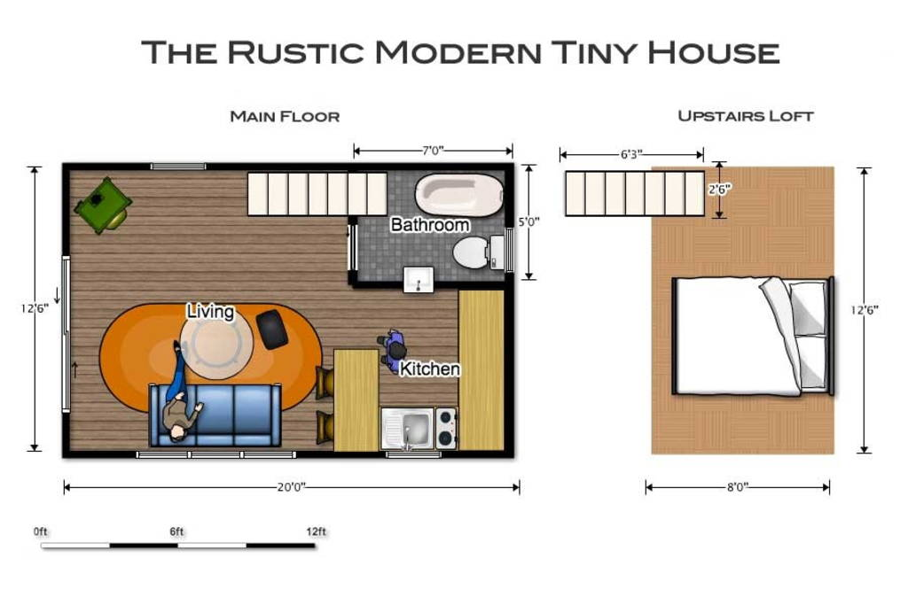 Floor Plan - Rustic Modern Tiny House