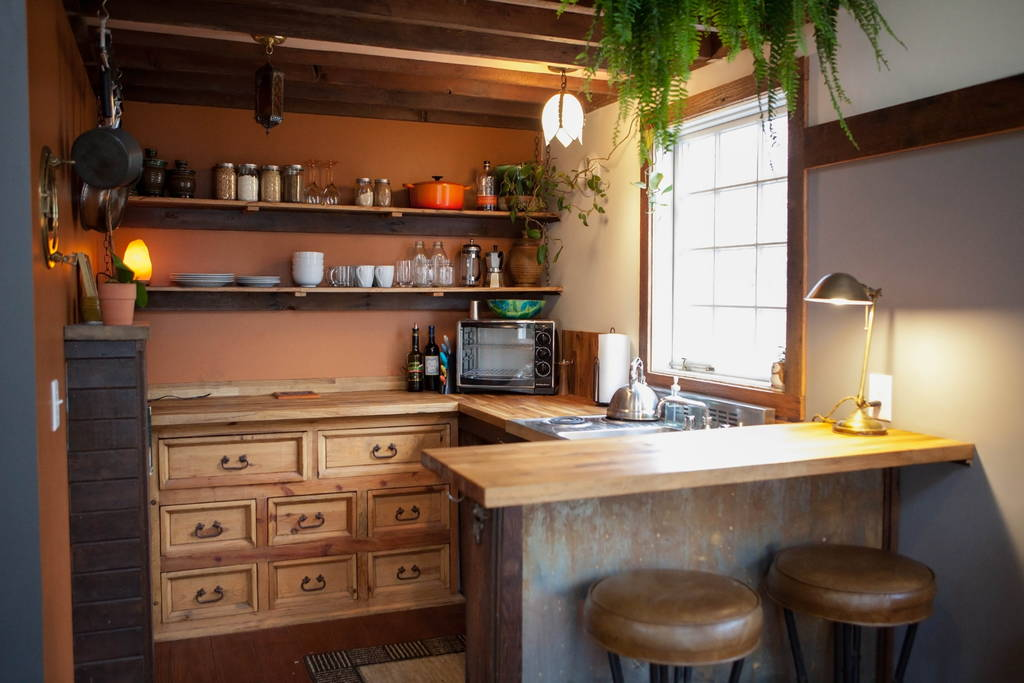 Kitchen - Rustic Modern Tiny House