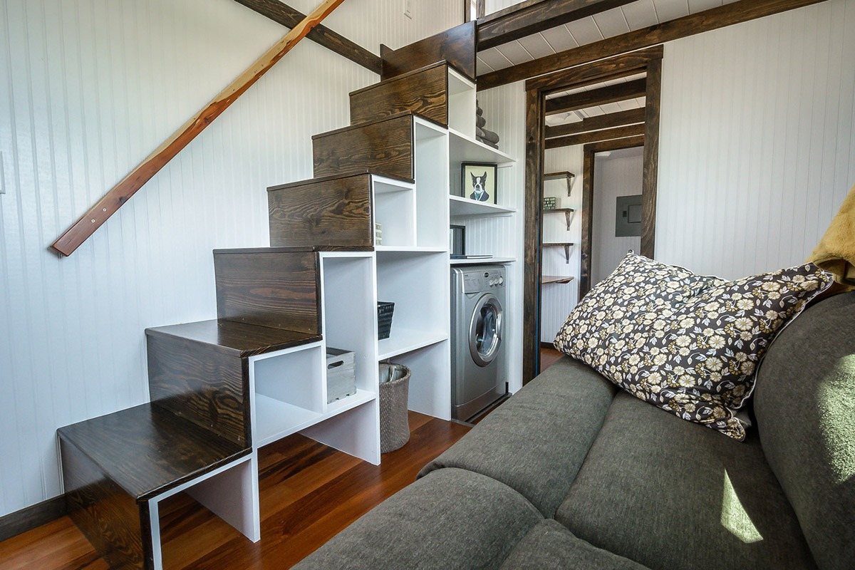 Storage Stairs - Triton by Wind River Tiny Homes