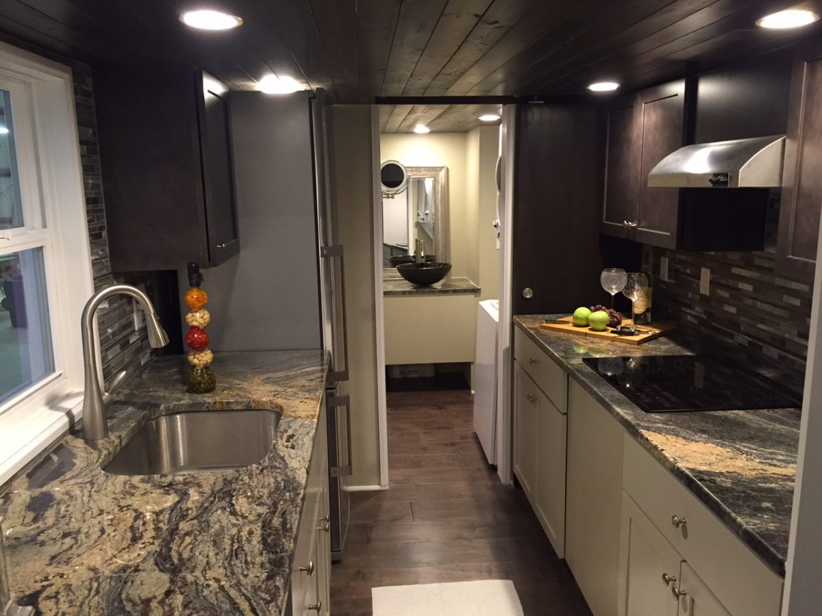 Galley Kitchen - Westbury by Cornerstone Tiny Homes