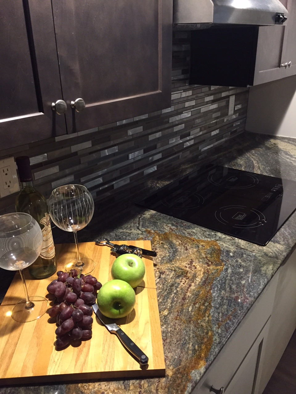 Cooktop and Backsplash - Westbury by Cornerstone Tiny Homes
