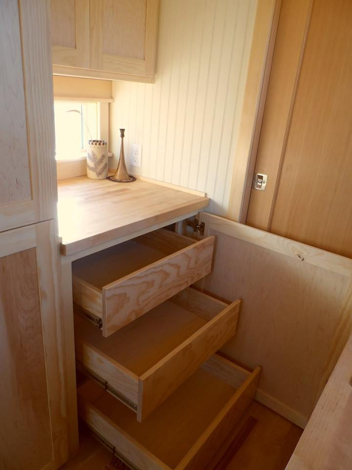 Slide Out Shelves - Payette by Greenleaf Tiny Homes