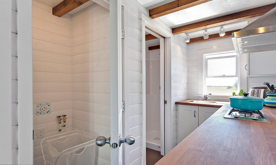 Washer Dryer Area - Amalfi Edition by Mint Tiny Homes