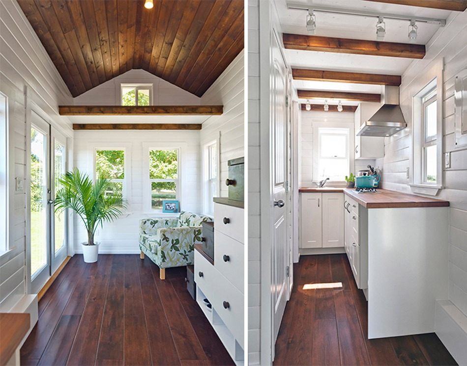 Living Room and Kitchen - Amalfi Edition by Mint Tiny Homes