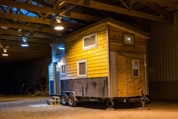 Exterior Side View - Blue Moon by MitchCraft Tiny Homes