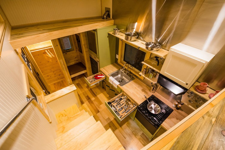 Interior Aerial View - Blue Moon by MitchCraft Tiny Homes