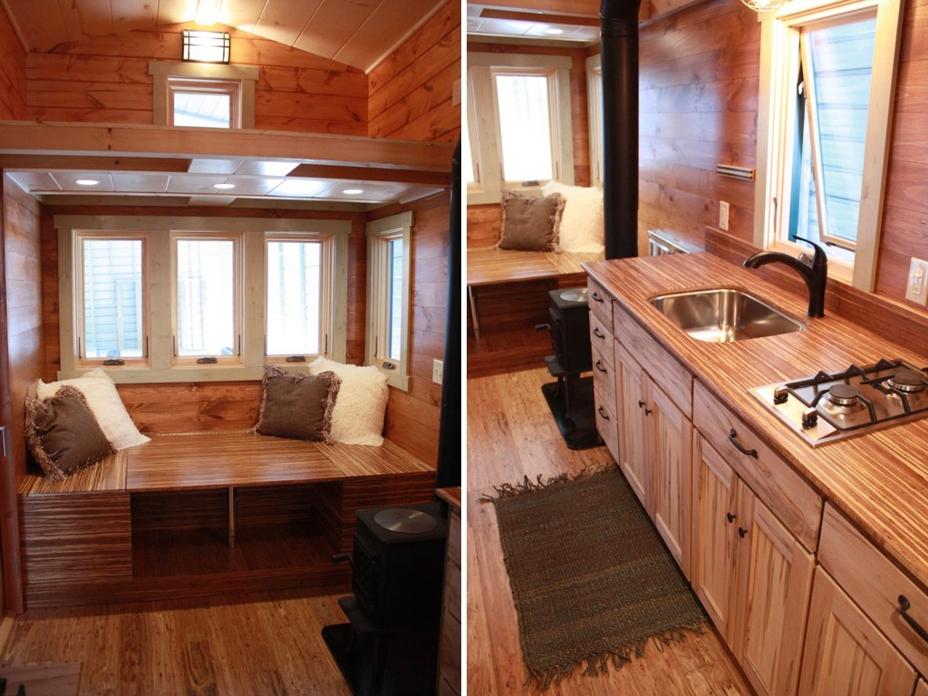 Living Room and Kitchen - Fitness Nest by Blue Ridge Tiny Homes