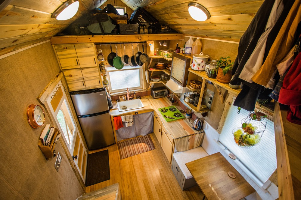 Kitchen and Dining Areas - Bookworm by MitchCraft Tiny Homes
