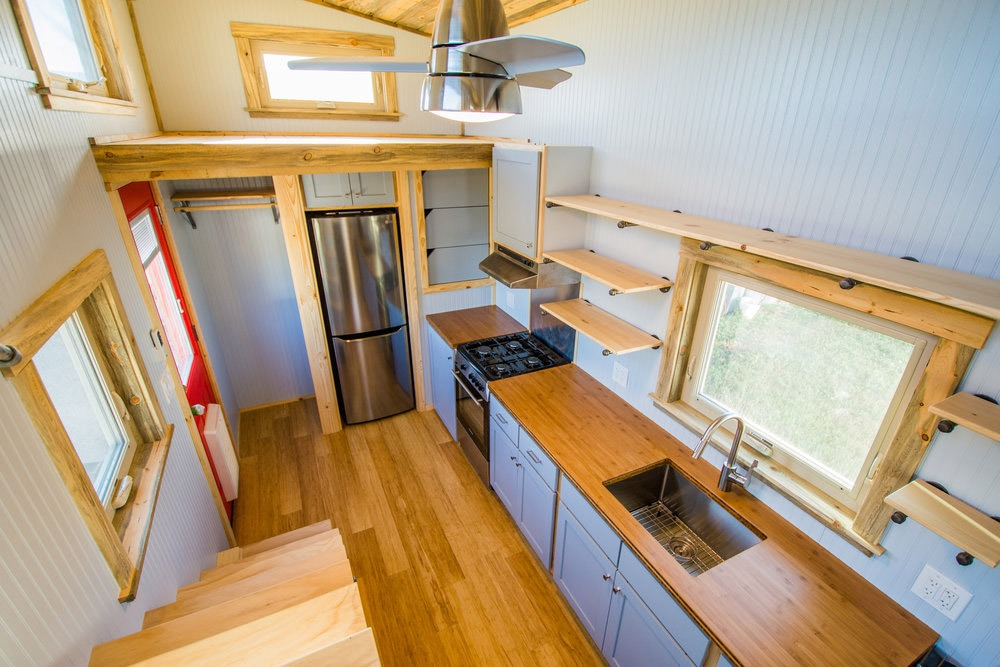 Aerial View - Dennis' Tiny House by Mitchcraft Tiny Homes