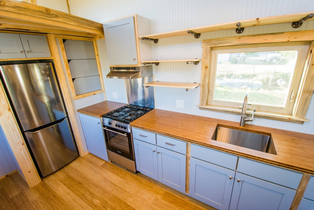 Kitchen - Dennis' Tiny House by Mitchcraft Tiny Homes