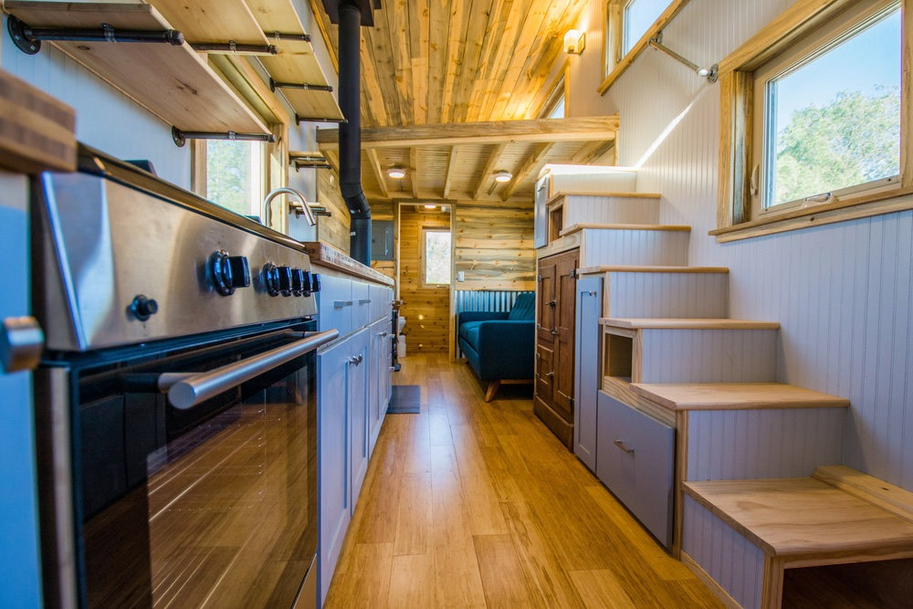Storage Stairs - Dennis' Tiny House by Mitchcraft Tiny Homes