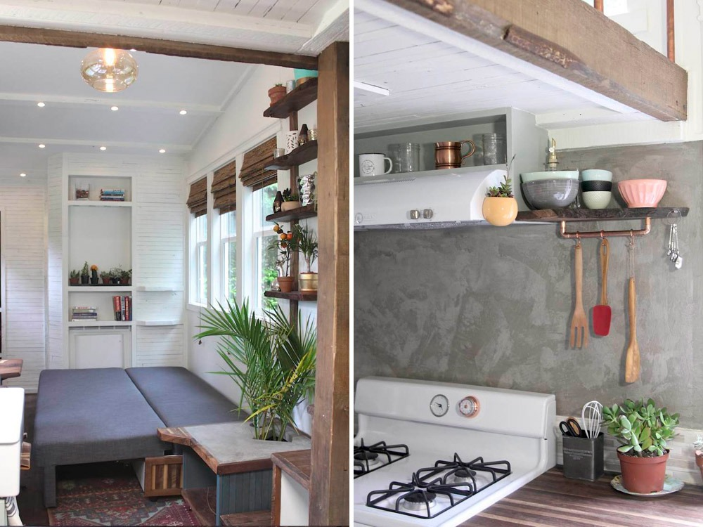 Living Room and Kitchen Stove - Artisan Retreat by Handcrafted Movement