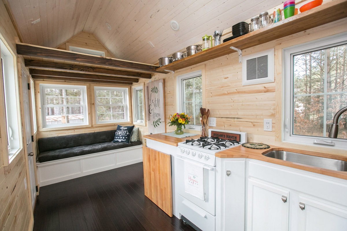 Kitchen and Living Room - Hogan's Haven Tiny House
