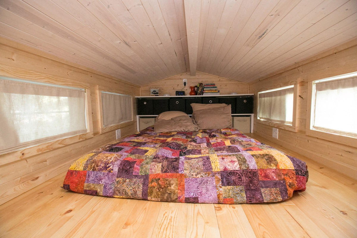 Bedroom Loft - Hogan's Haven Tiny House