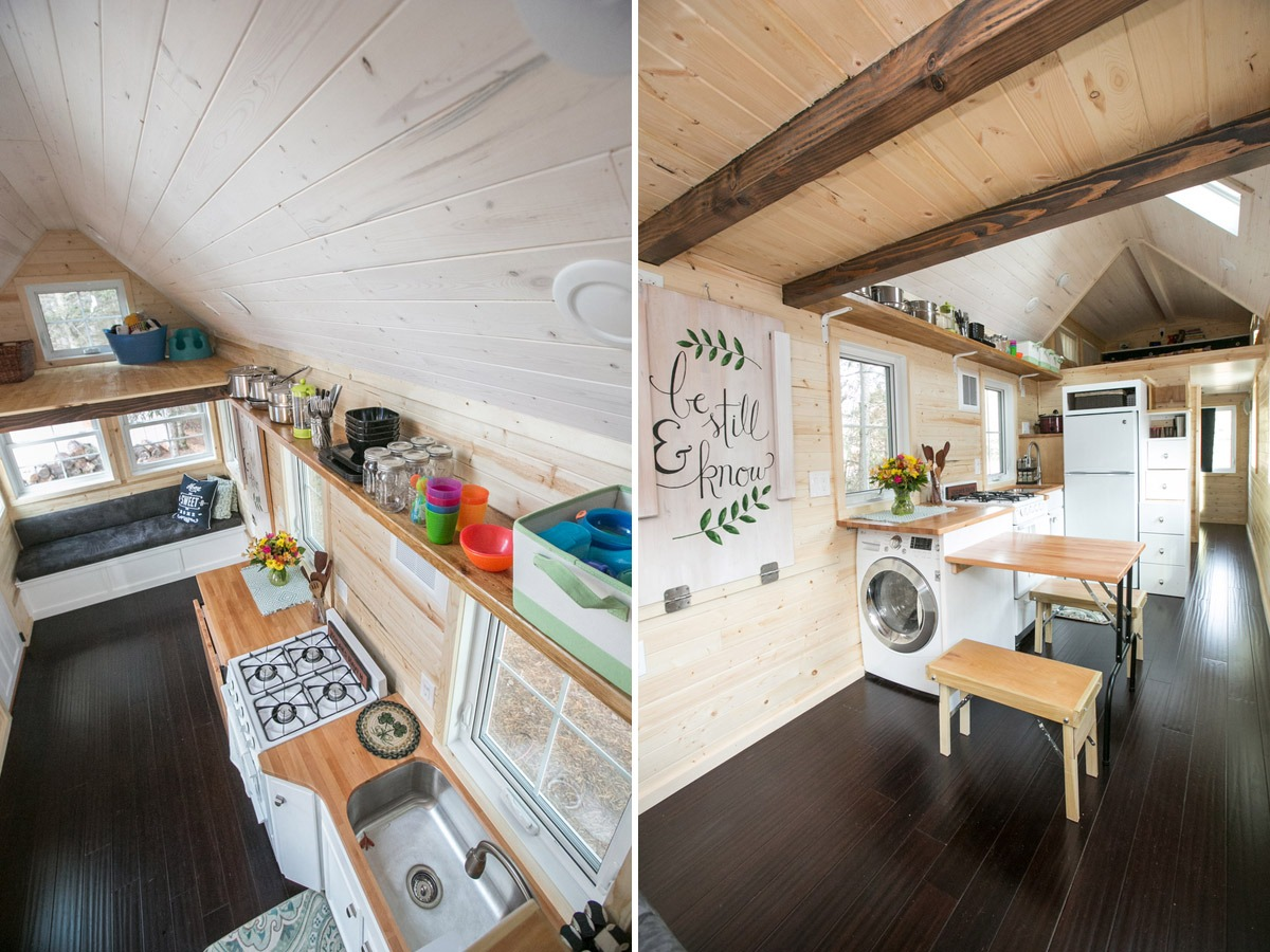 Kitchen and Dining Area - Hogan's Haven Tiny House