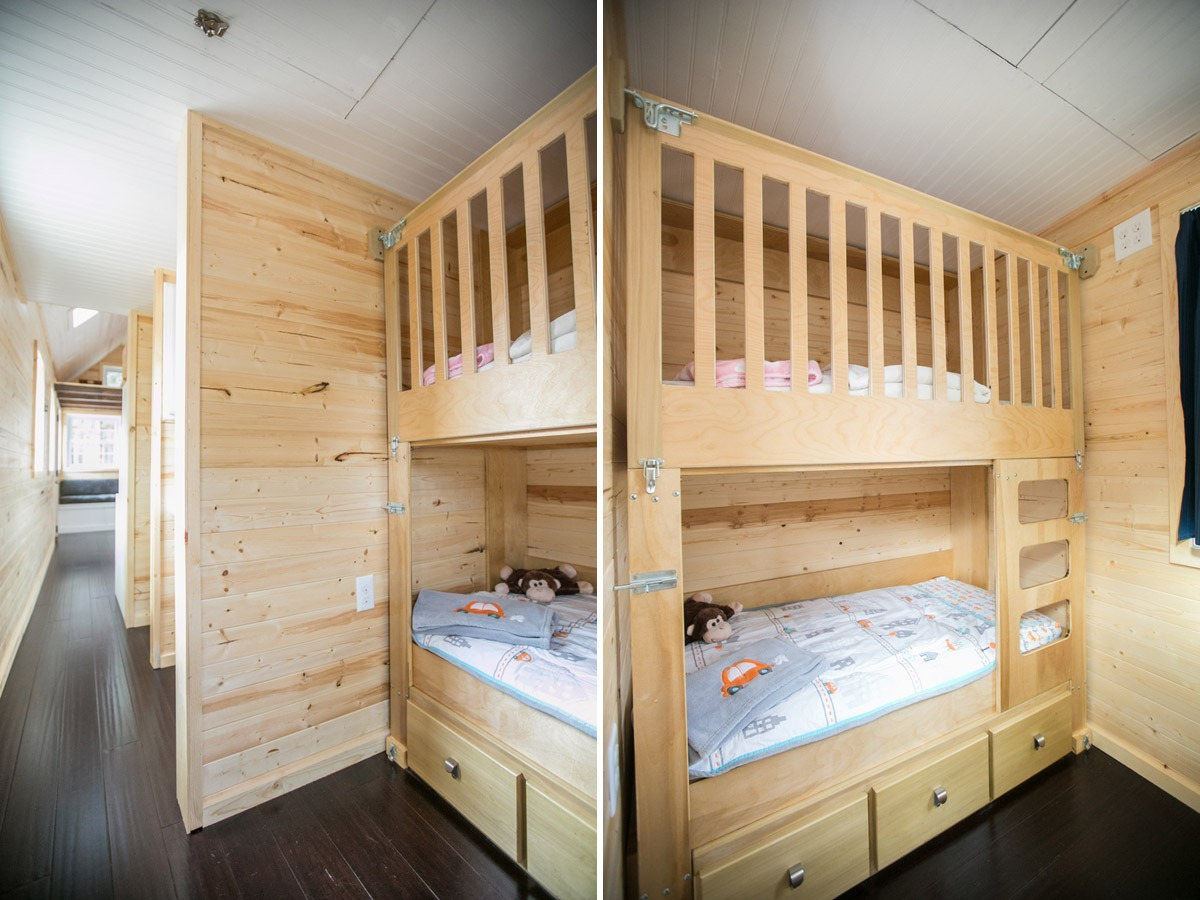 Bunkbeds - Hogan's Haven Tiny House