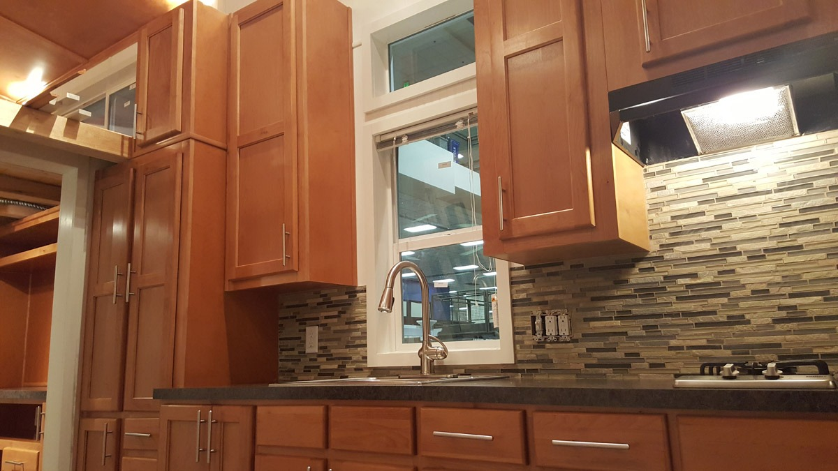 Kitchen Counter and Cabinets - Ko'olau by Tiny Pacific Houses