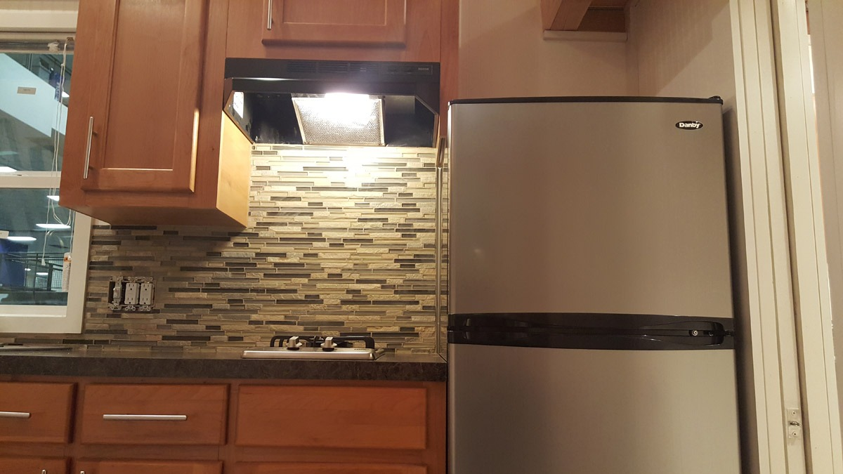 Refrigerator and Backsplash - Ko'olau by Tiny Pacific Houses