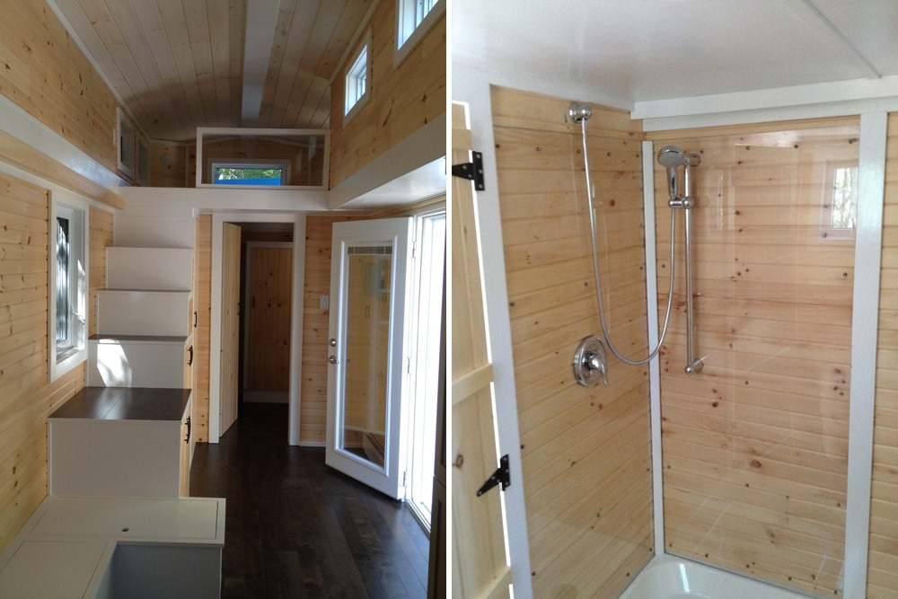 Interior View and Shower - LGV by Full Moon Tiny Shelters