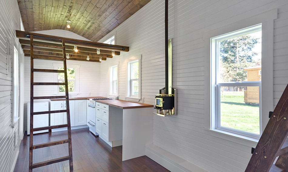 Kitchen and Living Room - Loft Edition by Mint Tiny Homes