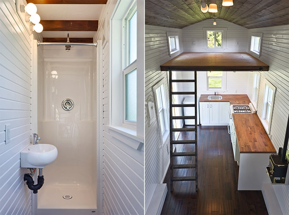 Bathroom and Loft - Loft Edition by Mint Tiny Homes